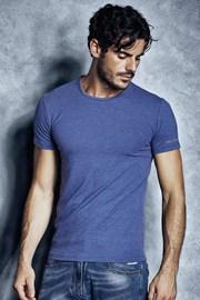 Męski T-shirt bawełniany 1504 Cobalto