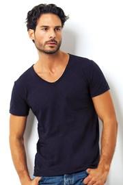 Męski T-shirt włoskiej marki Enrico Coveri 1512 Blue
