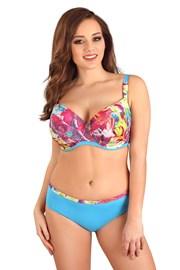 Dwuczęściowy damski kostium kąpielowy Flowers Blue