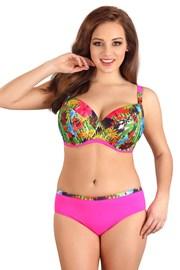 Dwuczęściowy kostium kąpielowy Flowers Pink z nieusztywnianym biustonoszem