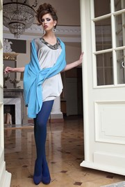 Eleganckie rajstopy Glamour Soft Blue