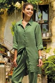Lniana sukienka letnia Sherie Green z kolekcji Iconique