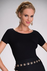 Elegancka damska bluzka Joana z koronkowym tyłem