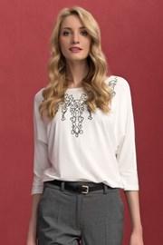 Wyszywana damska bluzka Sarina White