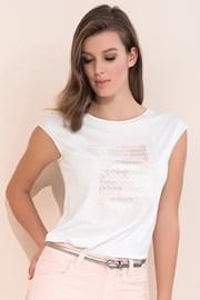 Elegancka damska bluzka z krótkim rękawem