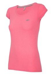 Damski T-shirt sportowy 4F Pink