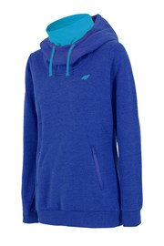 Damska bluza sportowa ze stójką - niebieska