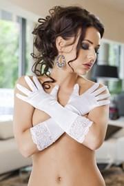 Rękawiczki Nora białe