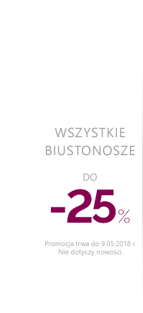 Biustonosze do -25 %.