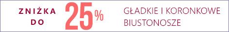 Gładkie i koronkowe biustonosze. Zniżka do 25%
