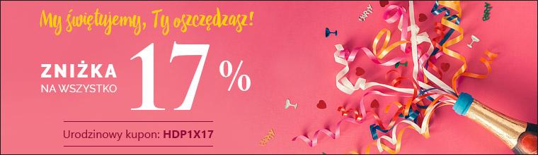 Urodzinowy kupon. 17% zniżki na całe zakupy
